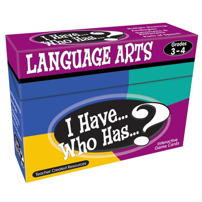 I Have Who Has Language Arts Games Gr 3-4