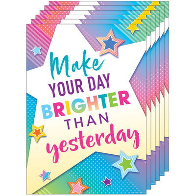 (6 Ea) Make Your Day Brighter Than Poster Colorful Vibes