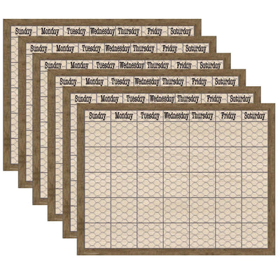 (6 Ea) Chicken Wire Calendar Chart Home Sweet Classroom