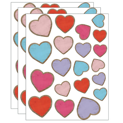 (3 Pk) Hearts Accents Assorted Sizes Home Sweet Classroom