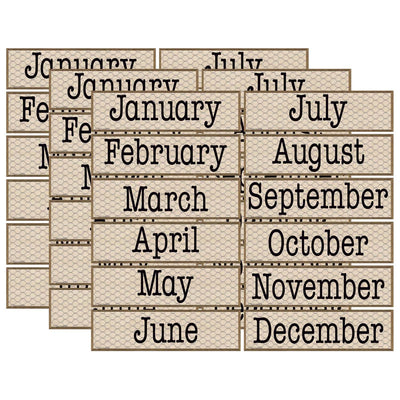 (3 Pk) Chicken Wire Monthly Headliners Home Sweet Classroom