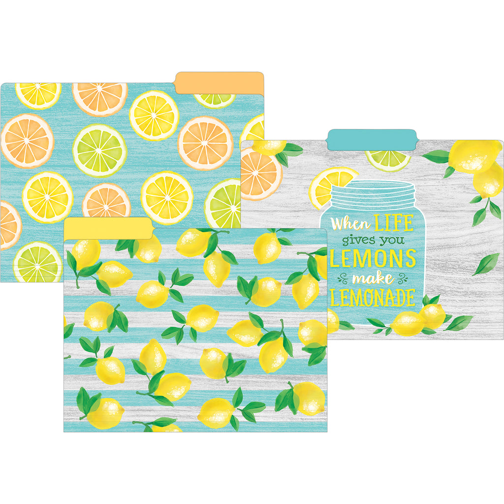 (2 Pk) Lemon Zest File Folders