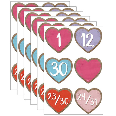 (6 Pk) Hearts Calendar Days Home Sweet Classroom