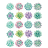 (12 Pk) Rustic Bloom Succulents Stickers