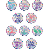 (3 Pk) Iridescent Positive Sayings Accents