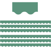 (6 Pk) Eucalyptus Green Scalloped Border