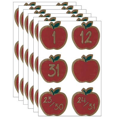 (6 Pk) Apples Calendar Days Home Sweet Classroom