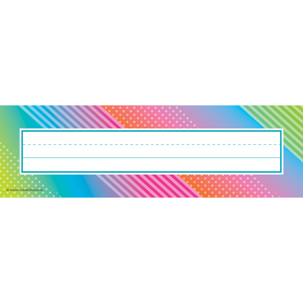 (6 Pk) Colorful Vibes Name Plates