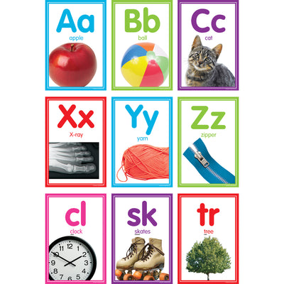 (2 St) Colorfl Photo Alphabet Cards Bb St