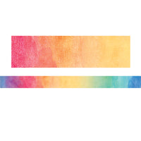 (3 Pk) Watercolor Straight Rolled Border