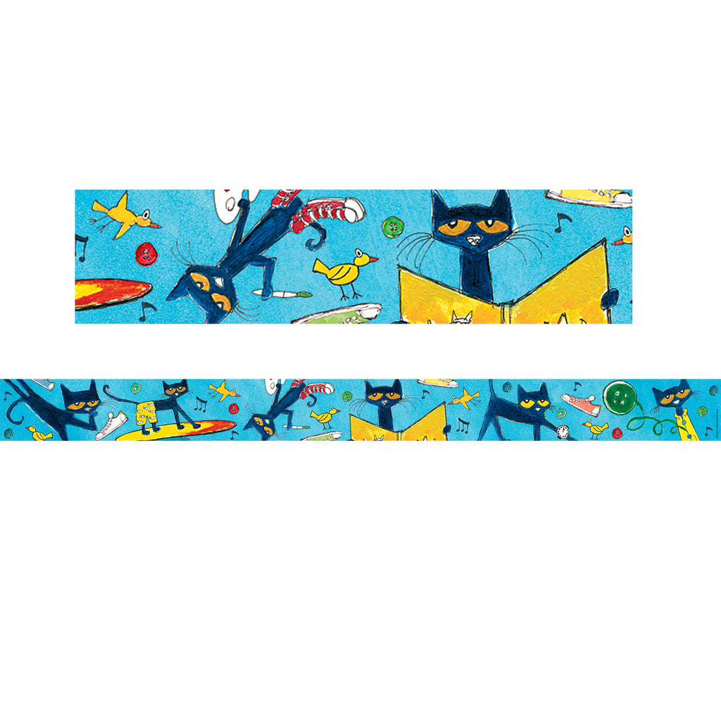 (3 Pk) Pete The Cat Straight Rolled Border