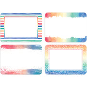 (6 Pk) Watercolor Name Tags-labels - Student Spotlight