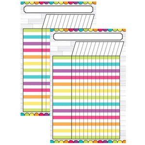 (2 Ea) Magnetic W&w Diy Magnetic Incentive Chart 12x18