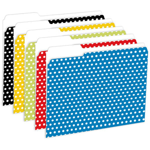 (2 Pk) Designer File Folders Polka Dot - Student Spotlight