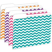 (2 Pk) Chevron File Folders 12 Per Pk