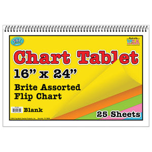 (2 Ea) Chart Tablet 16x24 Assorted Blank