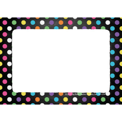 Name Tags Chalkboard Dots