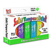 Kwik Stix Solid Paint 6 Neon Colors Jumbo