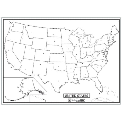Outline Wall Maps Us