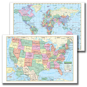 Laminated Us-world Notebook Maps 10pk - Student Spotlight