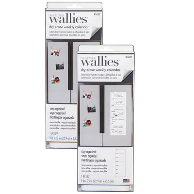 (2 Pk) Weekly Calendar Wallies Dry Erase