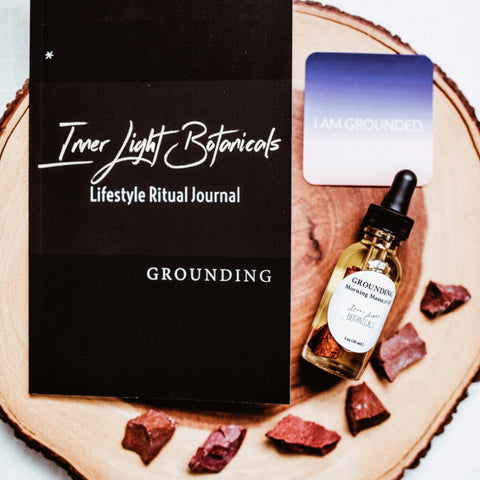Inner Light Botanicals Grounding  Morning Massage Oil and Self-Care Kit