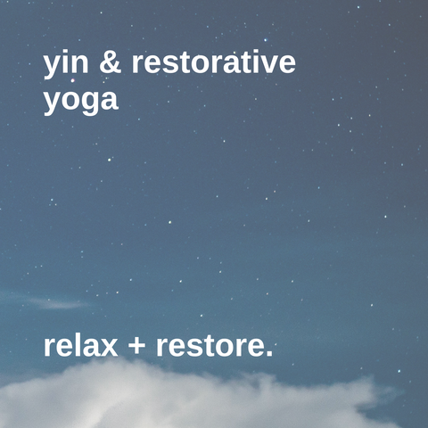 Inner Light Botanicals Yin & Restorative Yoga class. Join the Inner Light Sanctuary