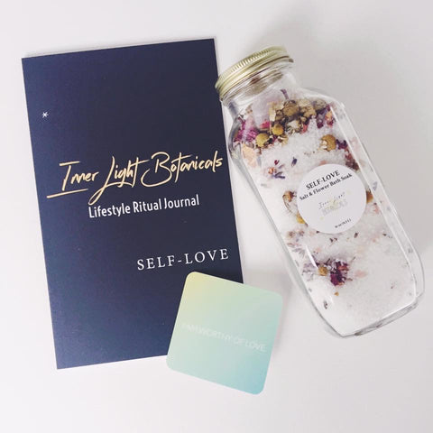 Inner Light Botanicals Self-Love Salt & Flower Bath Soak Self-Care Kit
