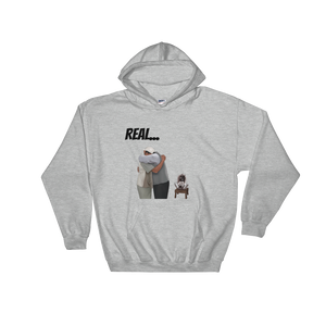 Open image in slideshow, Will and Uncle Phil - Real Man (Unisex) Hooded Sweatshirt - Temple & Kardy's Store