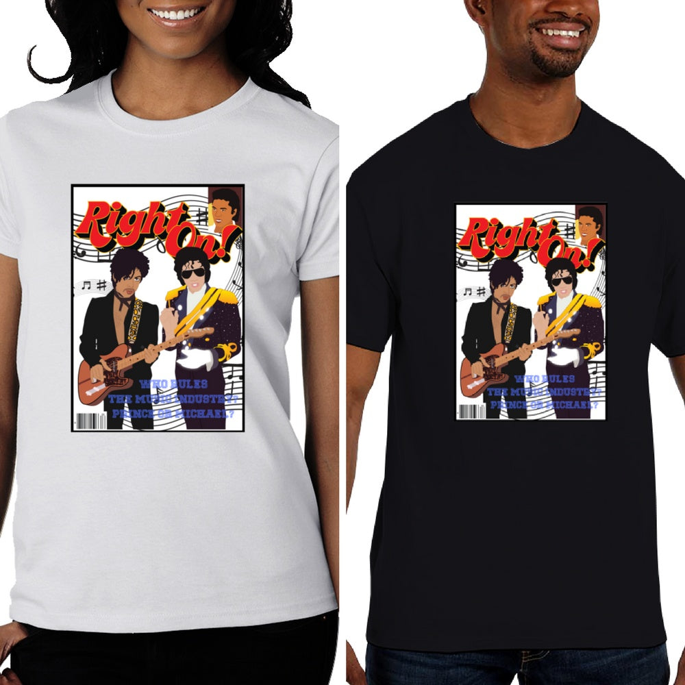 T-SHIRTS - Michael Jackson And Prince - African American, Black Pride, Melanin Unisex T-shirt