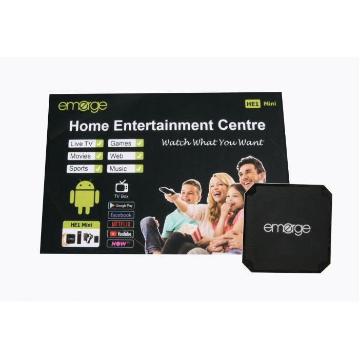Emerge HE1 Mini Android TV Box - 1GB RAM