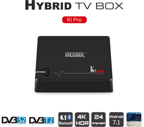 KI Pro Android 7.1  and Satellite TV Box (All in One!) - DVB-S2 and DVB-T2