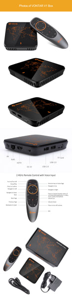 Vontar V1 Voice Control Android TV Box 2GB/16GB 4K (Android 7.1)