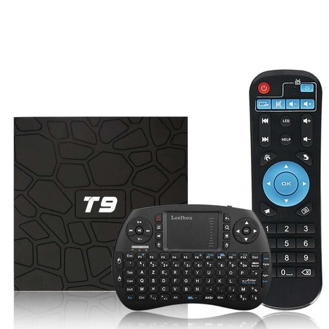 T9 4K Android TV Box 4GB/32GB (Android 8.1) & Wireless Keypad