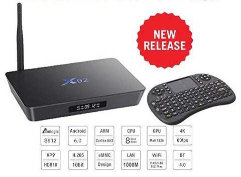 X92 4K Android TV Box 3GB/32GB & Wireless Keypad (Octa Core - Top of the range!)