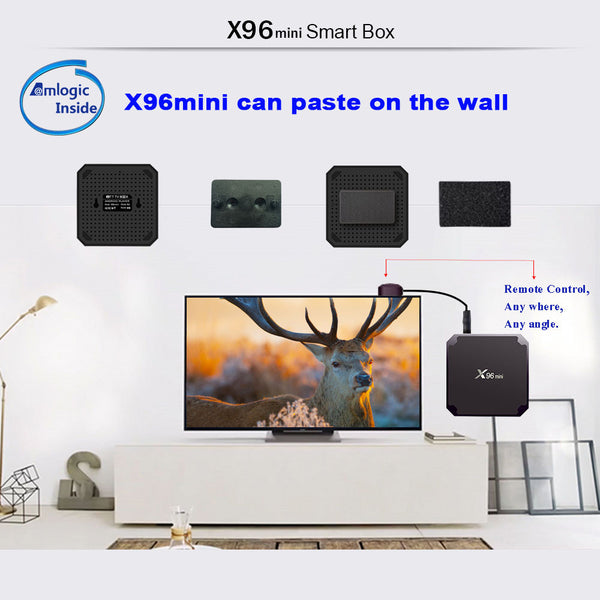 X96 Mini Android TV Box 2GB/16GB 4K (Android 7.1 - Latest Version!) and Wireless Keypad