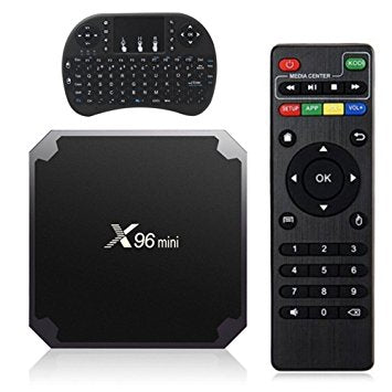 X96 Mini Android TV Box 2GB/16GB (Android 7.1 - Latest Version!) and Wireless Keypad
