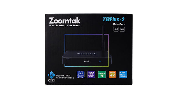 Zoomtak T8 Plus Android TV Box 2GB/16GB 4K - Android 7.1