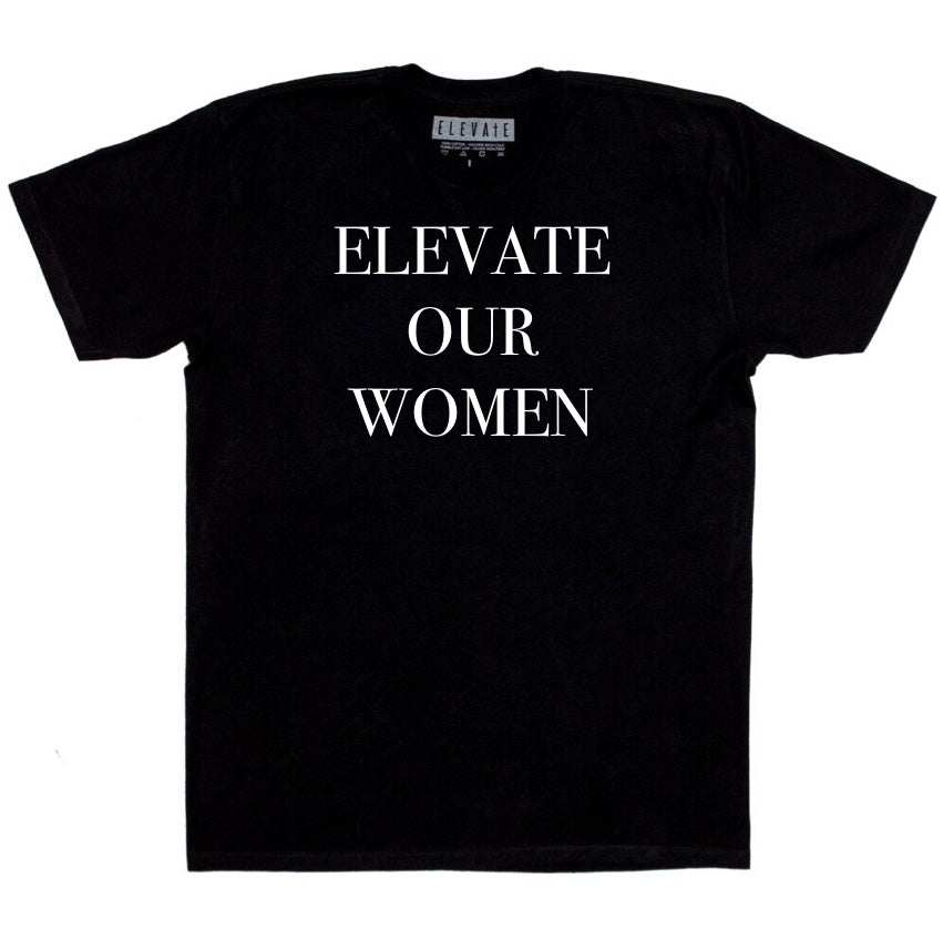 ELEVATE Our Women Tee - Black/White