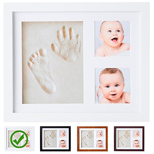 baby handprint footprint non toxic mold free frame kit the deal zones