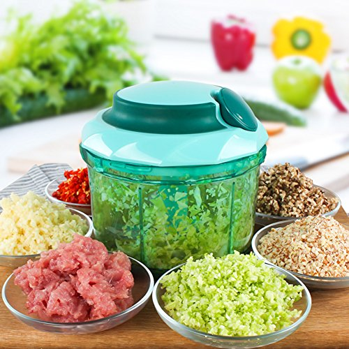 Manual Food Chopper, Upintek Kitchen 4 Cup Manual Hand Held Chopper Blender  Pull String Chopper