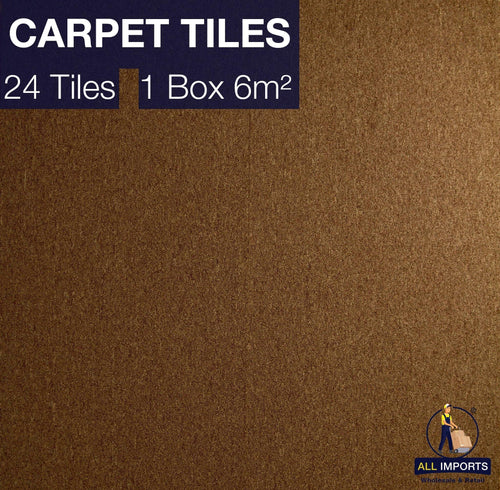 6m² Box of TH07 Premium Carpet Tiles - Perfect for Commercial & Domestic use