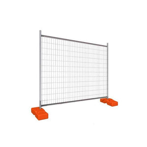 Temporary Fencing with Plastic Bases & Clips