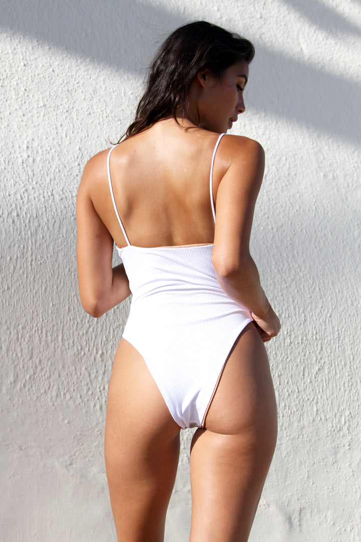 CARTER BODYSUIT - WHITE RIB