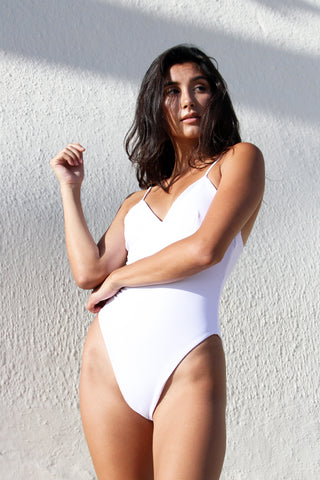 CRAWFORD BODYSUIT - WHITE SMOCK