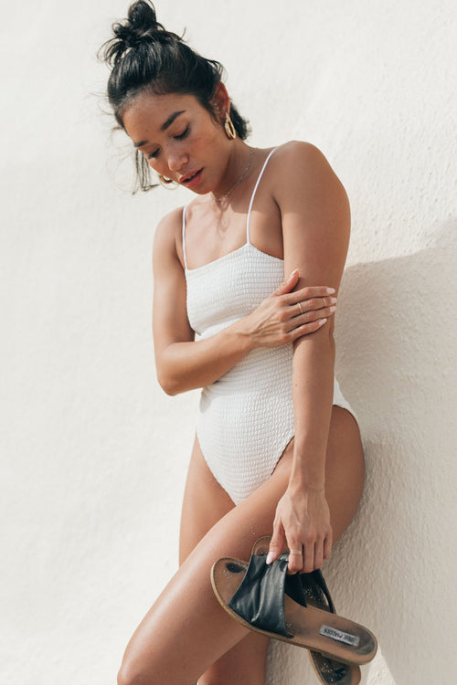 CRAWFORD ONE PIECE - WHITE SMOCK