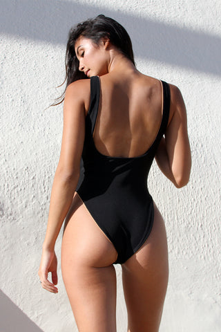 CRAWFORD BODYSUIT - BLACK SMOCK