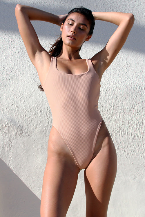 GEMMA ONE PIECE - NUDE RIB