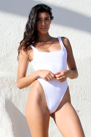 STELLA TOP - WHITE RIB
