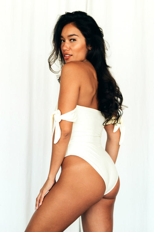 HARPER OFF THE SHOULDER ONE PIECE - IVORY